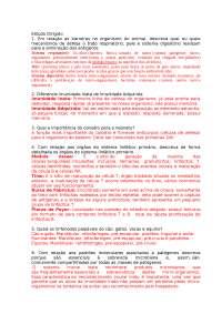 Estudo dirigido - Imunologia Veterinária