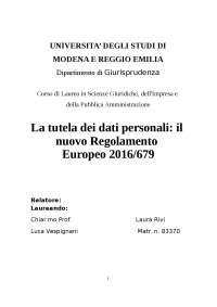 il nuovo regolamento europeo per la privacy