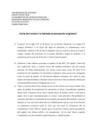 Ficha de lectura para la clase de escritura academica
