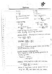 thermal engg. class notes, Study notes for Thermodynamics