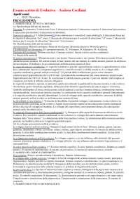 Esame Scritto Evolutiva - Andrea Ceciliani Unibo