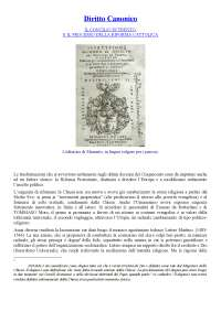 Appunti di Diritto Canonico