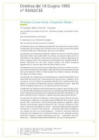 Direttiva Dispositivi Medici