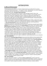 Riassunto manuali Detti, Gozzini, Storia contemporanea. Vol. 1: l'Ottocento, vol. 2: il Novecento, B. Mondadori editore.