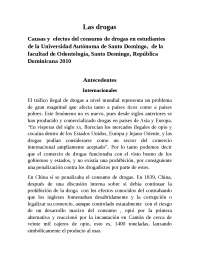 Las drogas en estudiantes de la Universidad Autónoma de Santo Domingo