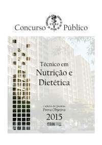 Prova Objetiva - Técnico em Nutrição e Dietética.