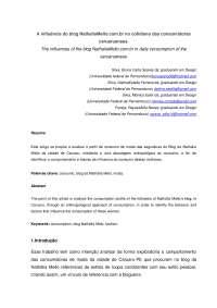A influência do blog NathaliaMello.com.br no cotidiano das consumidoras caruaruenses