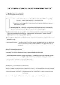 PROGRAMMAZIONE DI VIAGGI E ITINERARI TURISTICI - Università del Piemonte Orientale - UPO - Economia/Turismo