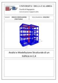 Analisi e Modellazione strutturale di un edificio in C.A.