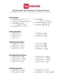 cheat sheet matematica document
