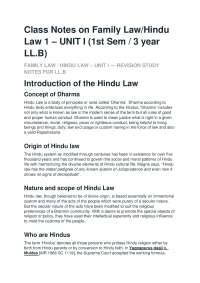 Family Law of Hindu and Muslim