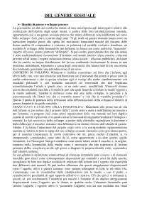Del Genere Sessuale Cesaro riassunto pdf