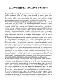 Sviluppo affettivo ed ambiente Winnicott riassunto pdf