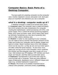 What is a Desktop Computer ?
