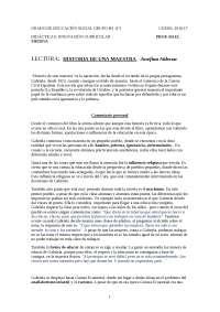 RESEÑA HISTORIA DE UNA MAESTRA - JOSEFINA ALDECOA