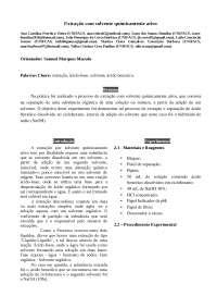 Prática de Extração com solvente quimicamente ativo
