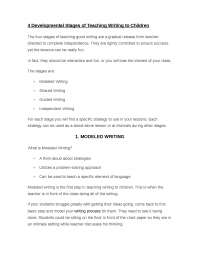 Developmental Stages of Teaching Writing to Children