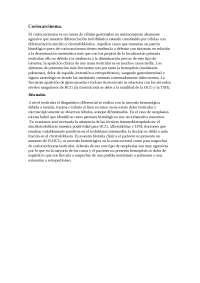 Coriocarcinoma como diagnostico diferencial