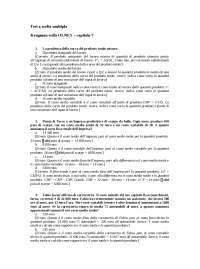 domande economia politica cap7, Esercizi di Economia
