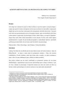 Questionamentos Acerca da Praxeologia de Ludwig von Mises