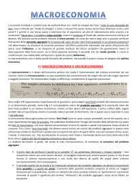 Dispense complete di Macroeconomia - Economia Politica