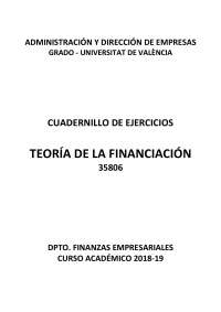 ejercicios de teoria de financiacion