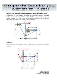 Ejercicio 2 de Equilibrio en Cuerpos Rígidos (Taller, Septiembre/2018)