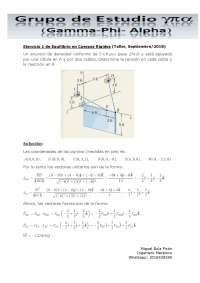 Ejercicio 1 de Equilibrio en Cuerpos Rígidos (Taller, Septiembre/2018)