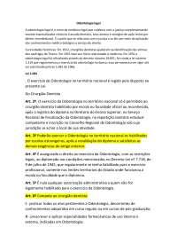Odontologia legal código de ética odontológico