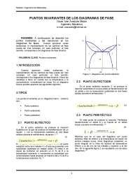 Puntos invariantes  en los diagramas de fase