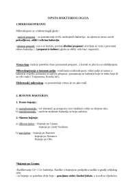 Opsta bakteriologija - praktikum