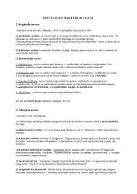 Opsta i specijalna bakteriologija -praktikum