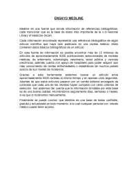 ENSAYO SOBRE EL USO DE MEDLINE