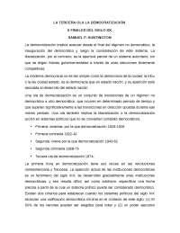 LA TERCERA OLA LA DEMOCRATIZACIÓN A FINALES DEL SIGLO XX