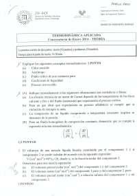 Examen de Termodinámica aplicada