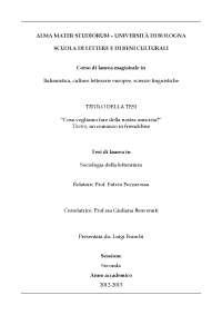 Corso di laurea magistrale in Italianistica, culture letterarie europee, scienze linguistiche