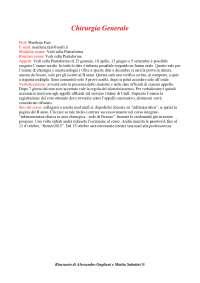 Chirurgia Generale - Appunti Completi