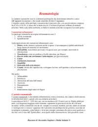 Reumatologia - Appunti Completi