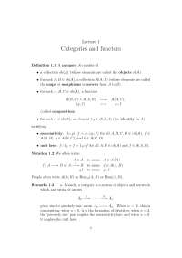 cohomology,Categories and functors
