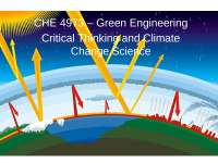 Green Engineering Chemical Engineering
