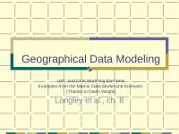 Data Models for GIS Part 1