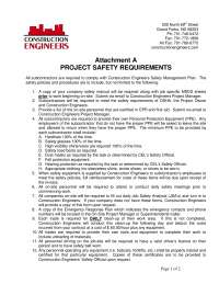 Project Safety Requirement