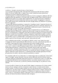 "RIASSUNTO ""LA TV DOPO LA TV"" - SCAGLIONI"