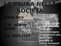 La Paura nella Società
