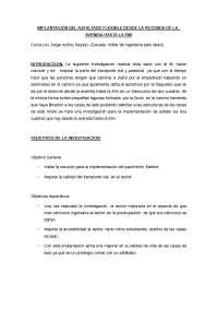 IMPLANTACIÓN DEL ASFALTADO FLEXIBLE