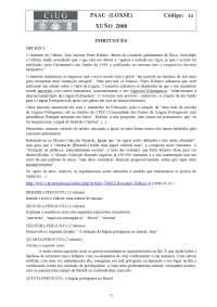 Examen de Portugués - Selectividad Galicia - Curso 07-08