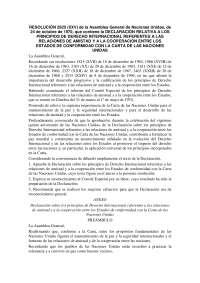 Resolución 2625 Derecho Internacional Público