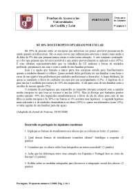 Examen de Portugués - Selectividad CyL - Jun 2008