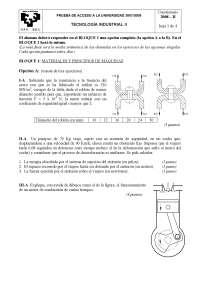 Examen de Tecnología Industrial - Selectividad País Vasco - Jul 2008