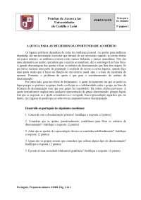Examen de Portugués - Selectividad CyL - Sept 2008